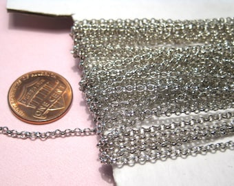 30 Ft /Spool Silver Tone Link-Opened Cable Chains 2mm Jewelry Supplies (No.44)