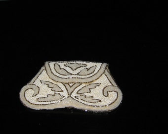 French Clutch Hand Beaded Coin Purse Labeled France