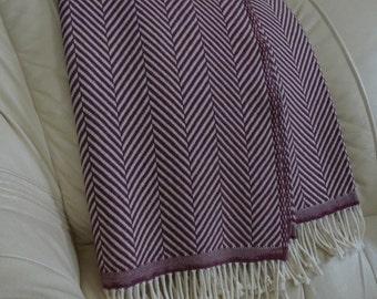 Merino wool blanket / wool blanket / merino blanket / merino blankets / burgundy blanket / burgundy blankets / wool blankets