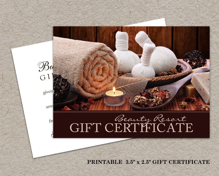 Printable Salon Gift Certificates Diy Printable Salon Gift