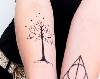 Tree of Gondor Temporary Tattoo