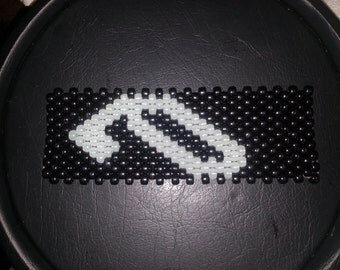 Anjunabeats Kandi Cuff, can be custom or ordered as shown