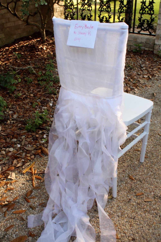 white chiavari chair cover tutu wedding chair cover sale