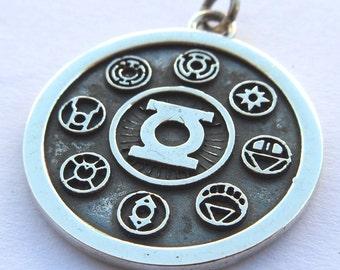 Green Lantern Corps Pendant Sterling Silver 925
