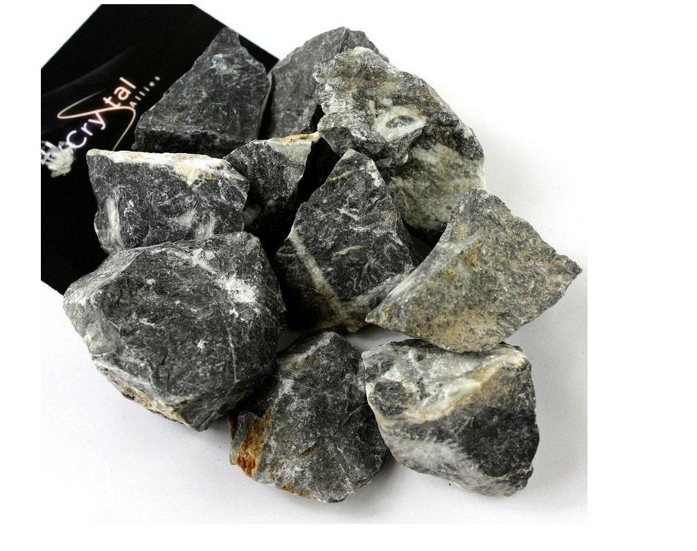 Rough Black Granite : One pound bulk rough black marble stones large natural