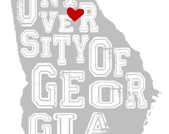 UGA wall art; digital file; UGA print; 11x14 wall art