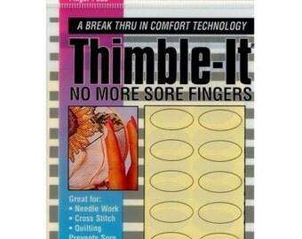 Self-Adhesive Thimble-It Finger Pads-64/Pkg