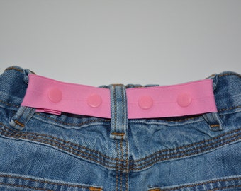 Pink elastic belt. Toddler belt. Snap belt. Baby belt.