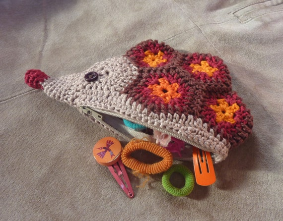 Hedgehog purse crochet pattern
