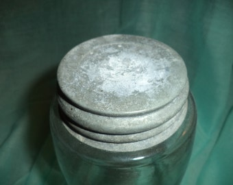 Antique Mason jar with metal lid