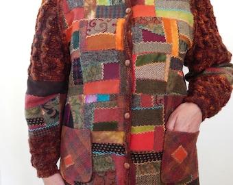 "Ladies Wool  Jacket ""Russetania""  Fits S-M Coat Winter All season"
