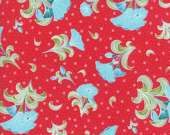 ON SALE 1 Yard Moda Pedal Pusher Large Bouquet Raspberry