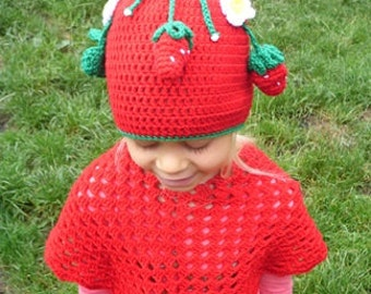 SWEET STRAWBERRIES Funny cap for Kids, perfect gift for birthday or baby shower