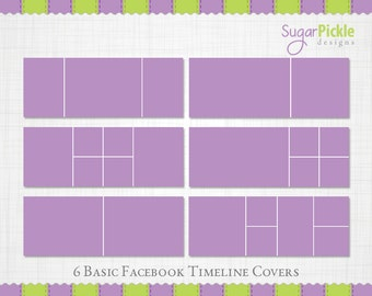 Facebook Timeline Cover, Set of 6 templates, Facebook Timeline Templates, Blank Timeline Cover, Facebook Cover Templates,