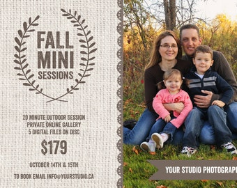 Mini Session, Fall Mini Session, Fall Template, Fall Flyer, Mini Session Template, Flyer Template, Fall Marketing Template