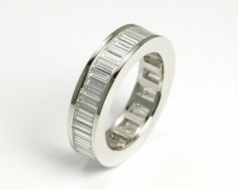 Full Circle Diamond Baguette Ring