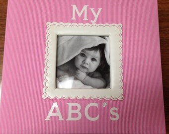 Homemade ABC book for baby girl (Upper and lower case letters for a larger party size)