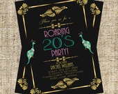 Items similar to 1920s party invitation art deco invitation 1920s party invitation art deco invitation flapper invitation baby shower bridal shower birthday party filmwisefo Choice Image