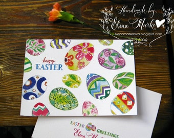 Happy Easter - Easter Greetings - Watercolor Easter card