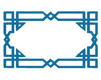 Machine Embroidery Design,  geometric frame, border, monogram frame, multiple sizes