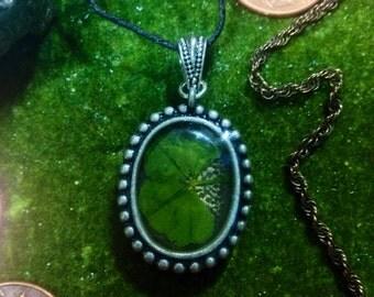 SALE!!  Classic Heathermarie  2: four leaf clover resin cast necklace