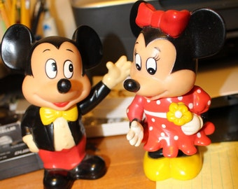 Vintage Mickey and Minnie Banks
