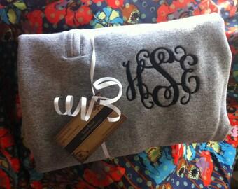 Monogram Quarter Zip, Monogram Fleece Pullover, Monogram Sweatshirt, Monogram Pullover