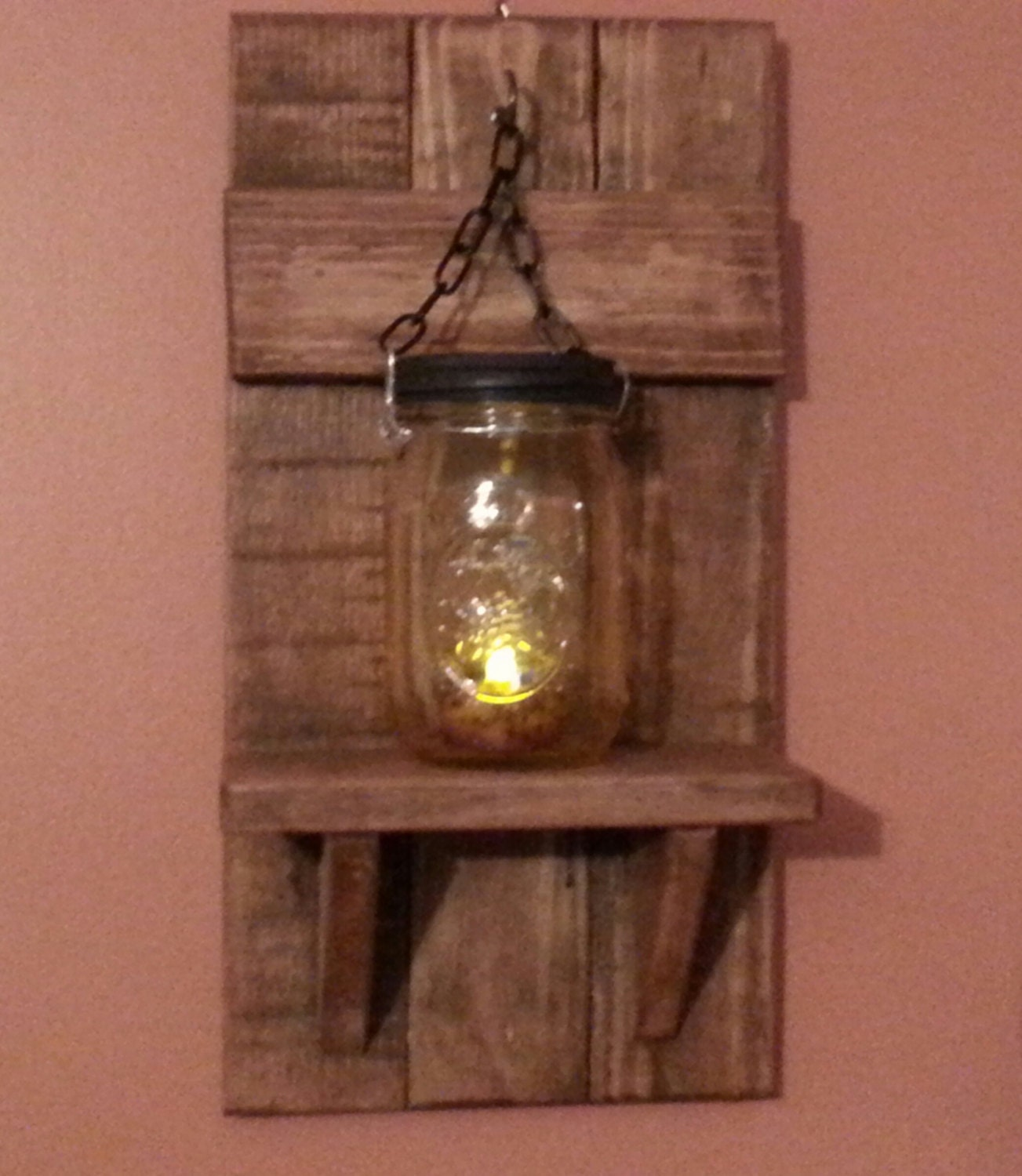 Country Wall Sconce Candle Holder : Candle Holder Mason jar wall candle holders Country Decor