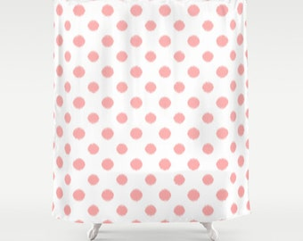 Girls Shower Curtain, Polka Dots, Pink Shower Curtain, Tween Girls, Teen Room Decor, Bathroom Decor, Teen Girl Gifts, Girls Bathroom, Ikat