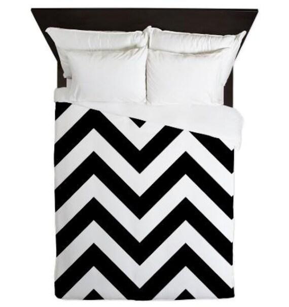 couette couverture black and white chevron housse de couette