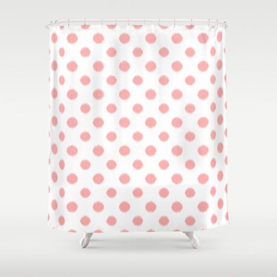m dchen dusche vorhang polka dots rosa duschvorhang. Black Bedroom Furniture Sets. Home Design Ideas