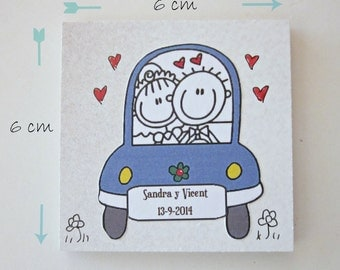 20 Cute Weeding Present.  Fridget Magnet Personalized.