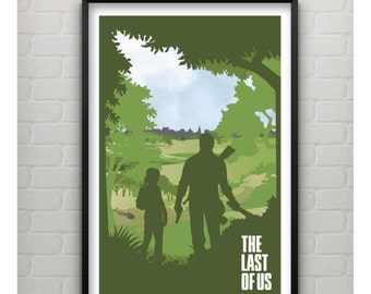 The Last of Us Print, The Last of Us Video Game Inspired Minimalist Poster, The Last of Us Poster, 11x17