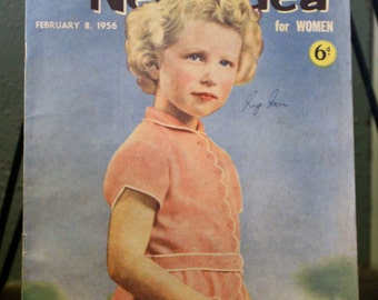 Fantastic Vintage 1956 The New Idea for Women (English Magazine). Young Princess Anne on cover.