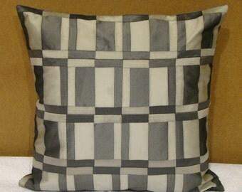 Stylish Dual Colour Patchwork Cushion