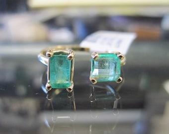 Emerald 14K Gold Open Ring 6J8001