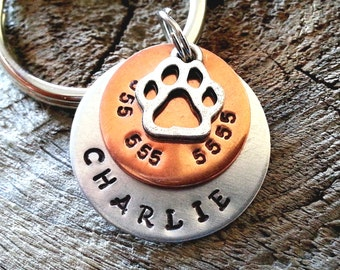 Pet ID Tag / Personalized Pet ID Tag / Dog Tag  / Pet Tag / Cat Tag / Dog Tag for Dogs / Personalized Dog Tag - Pet Accessories
