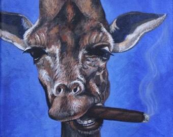 smoking giraffe etsy