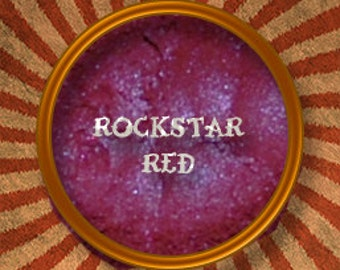 Rockstar Red - Mineral Eye Shadow- Made in the USA- Handmade in the USA
