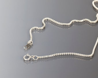 1.2 mm Sterling silver box chain, 16 inches