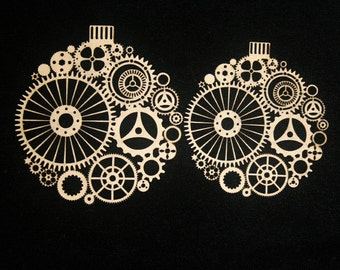 Steampunk Ornaments Laser Cut Chipboard FREE SHIPPING! in US and Canada
