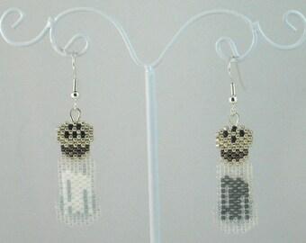 Beaded Salt and Pepper Shaker Earrings