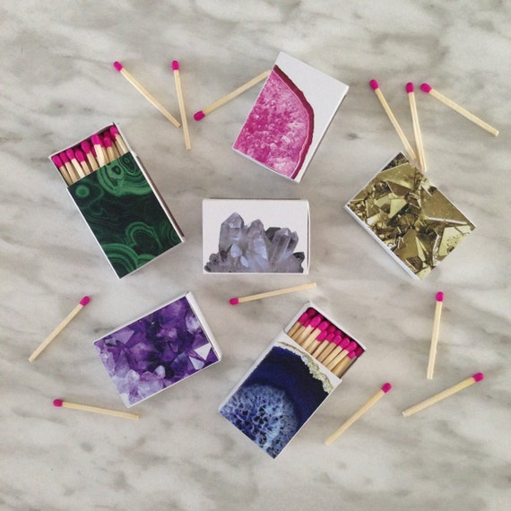 Decorative Matchboxes // Set of 6 Gems