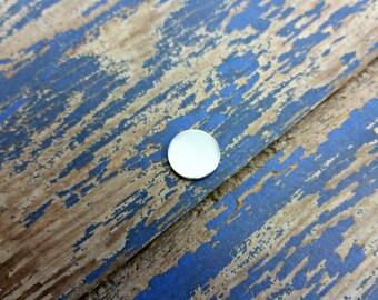 Aluminum 7/16 inch Round Stamping Blanks - 14G Aluminum