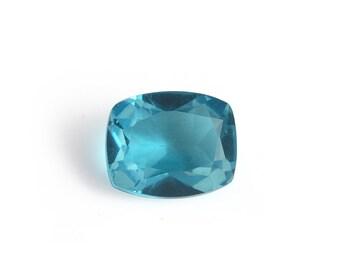 Capri Blue Quartz Triplet Loose Gemstone Cushion Cut 1A Quality 11x9mm TGW 3.55 cts.