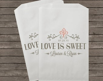 Wedding Candy Bags, Candy Buffet Bags, Candy Bar Bags, Favor Bags, Personalized Wedding Favor Bags, Treat Bags, Custom Favor Bags, Kraft 085