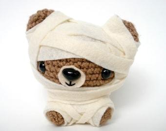 Mummy Costume Amigurumi Crochet Plush Bear