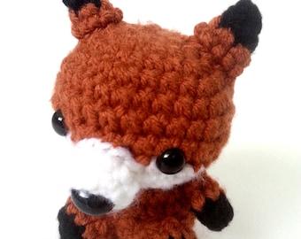 Friendly Little Red Fox Amigurumi Plush Animal