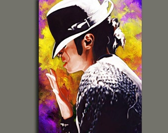 """Michael Jackson: Gone Too Soon Canvas Giclee, Acrylic Art W Gallery Wrap Ready To Hang Up To Size 28X42X1.5"""""""