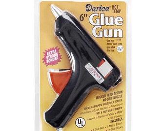 """6"""" High Temperature Hot Glue Gun - Comes with 2 Glue Sticks (4"""" x 7/16"""")"""